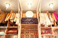 Very clever to put lavender above the shoe racks. Dorothee Schumacher-Designer's home in Mannheim