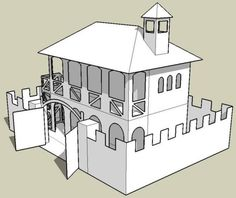 Medieval Outpost - by Papermau - New Model In Progress -         Here are some images of the Medieval Outpost, a work in progress. I think this will be great for RPg, Wargames and Dioramas. More soon.