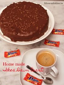 Ik hou van bakken: Home made Ikea Daim taart (glutenvrij) Daim Cake, Pie Recipes, Cooking Recipes, Yummy Recipes, Torte Recipe, Cheesecake Cake, Ikea, Sin Gluten, Yummy Food