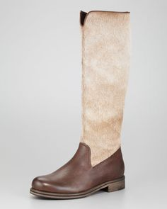 Calf Hair Knee Boot by Henry Beguelin at Neiman Marcus.