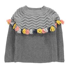 Tangerine Pompom Wool Jumper-product