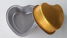KEISEN 3 25 mini cordate Disposable Aluminum Foil Cups 100ml for Muffin Cupcake Baking Bake Utility Ramekin Cup 100PK Gold ** Want to know more, click on the image.Note:It is affiliate link to Amazon.