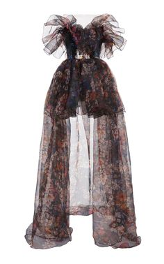 Floral Printed Organza Poufy Bustier Gown by Elie Saab Kpop Fashion Outfits, Stage Outfits, Mode Outfits, High Fashion Dresses, Dance Outfits, Pretty Outfits, Pretty Dresses, Beautiful Dresses, Look Fashion