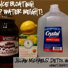 Detox Water Looking to drop that extra water weight and reduce bloating for a special event? Try Jillian Michaels detox waterLooking to drop that extra water weight and reduce bloating for a special event? Try Jillian Michaels detox water Jillian Michaels, Natural Diuretic, Natural Detox, Reduce Weight, Lose Weight, Weight Loss, Healthy Detox, Healthy Drinks, Easy Detox
