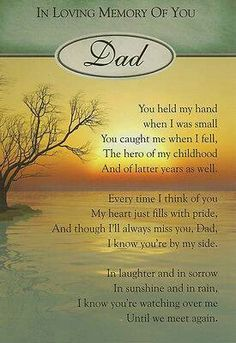 Love to all who have lost there beloved dads this coming fathers day. May God Bless you all.