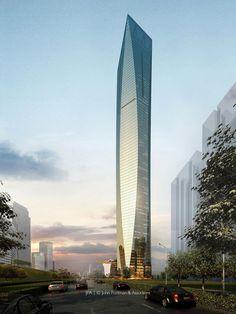 Nanning-China | Guangxi Financial Investment Center, 409 m | Pro 2010 | John Portman & Associates