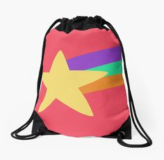 'Mabel Star' Drawstring Bag by umeimages Backpack Bags, Tote Bags, Drawstring Backpack, Pearl Rose, Woven Fabric, Phone Cases, Backpacks, Stickers, Tote Bag