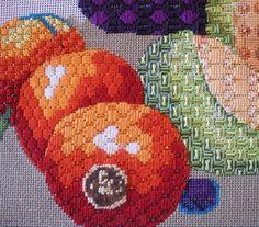 Stitch ideas for needlepoint fruit