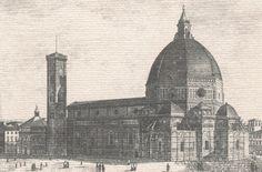 Old view of the Duomo (Basilica di Santa Maria del Fiore)