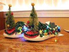 Tacky Ugly Christmas Shoes (great for ugly sweater party)