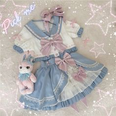 Kawaii Fashion, Lolita Fashion, Cute Fashion, Fashion Outfits, Cosplay Outfits, Anime Outfits, Ropa Color Pastel, Pretty Outfits, Cool Outfits