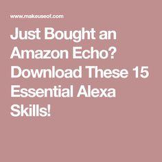 Just Bought an Amazon Echo? Download These 15 Essential Alexa Skills! Alexa Dot, Alexa Echo, Alexa Tricks, Amazon Echo Tips, Alexa Commands, Amazon Alexa Skills, Amazon Dot, Organised Mum, Iphone Information