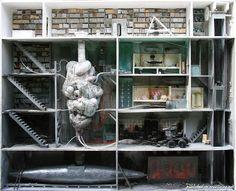 Миниатюры домов в разрезе от Марка Гиэ-Минье