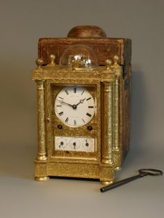 Berrolla. A giant engraved Grande Sonnerie, repeating french Chronometert carriage clock with day date and alarm.