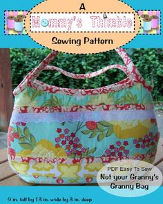 PDF Easy to Sew Not Your Granny's Granny Bag Sewing by jlingg, $10.00