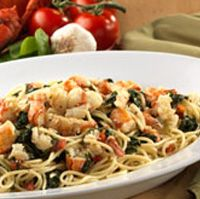 Lobster Spaghetti - Recipe from the Olive Garden.  I didn't know they had recipes on their site.  Awesome!