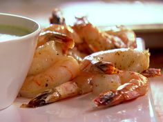 Roasted Shrimp Cocktail with Green Goddess Dressing recipe from Ina Garten via Food Network