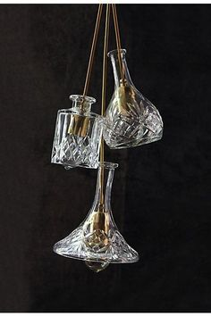 Hand-Cut Decanter Pendant Lamp, Tulip - #anthrofave