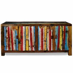 Ecologica Furniture Multicolor Entertainment Console | Overstock.com