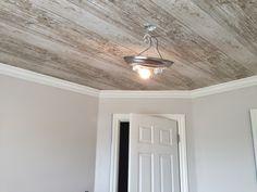 design dump: neutral masculine nursery: week 2. wallpapering the ceiling + choosing paint