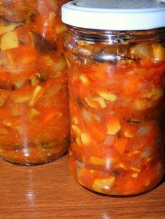 Vegan Recipes, Cooking Recipes, Preserves, Pickles, Food And Drink, Menu, Soup, Jar, Ethnic Recipes
