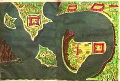 Century Portuguese Map of the bell-shaped island of Hormuz King Of Persia, Strait Of Hormuz, Sassanid, Island Map, Fortification, His Travel, East Africa, 17th Century, Portuguese