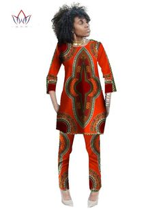 2016 Autumn Two Piece Set Wax Top and Pants Women Suits Two Piece Set African Women Clothing Plus Size 6xl Brand CustomWY484