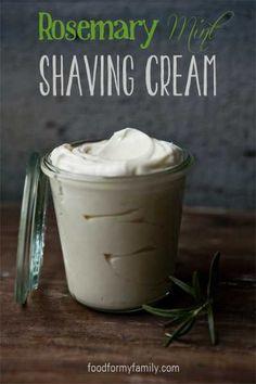 Homemade Rosemary Mint Shaving Cream #DIY #beauty