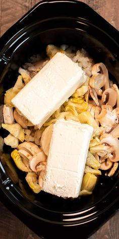 Creamy Artichoke and Mushroom Chicken is a wonderful recipe to try in the slow cooker, serve or rice or noodles. Creamy Artichoke and Mushroom Chicken is a wonderful recipe to try in the slow cooker, serve or rice or noodles. Vegetarian Crockpot Recipes, Crockpot Dishes, Crock Pot Slow Cooker, Slow Cooker Recipes, Beef Recipes, Cooking Recipes, Recipies, Slow Cooking, Mushroom Chicken Crockpot