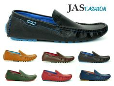 NEW Mens Casual Slip On Boat Deck Mocassin Designer Loafers Driving Shoes Size