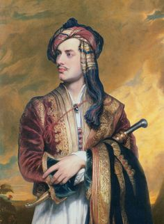 Lord Byron in traditional Albanian dress, a replica painted by Thomas Phillips (in 1835) of his original painting of 1813