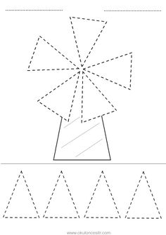 Triangle concept worksheet and windmill triangle geometric .