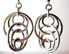 Chandelier Chainmaille Spiral Earrings Aluminum by TalespunMaille