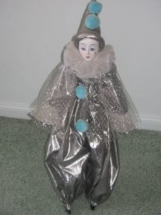 'Brilliant' Porcelain Clown Doll