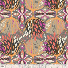 Celebration print in coral from the Affinity by sojofabric on Etsy