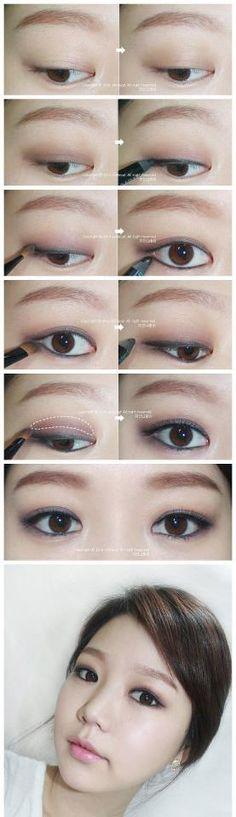 Korean eye makeup tutorial