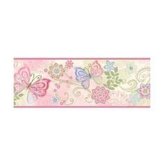 Brewster TOT46451B Fantasia Pink Boho Butterflies Scroll Border ($42) ❤ liked on Polyvore featuring home, home decor, wallpaper, borders, pink boho butterflies, butterfly home decor, boho style home decor, pink home decor, boho home decor and bohemian style home decor
