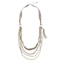 holiday 2013. Long Pearlized Multi Strand Necklace | Loft