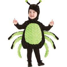 Cuddly Spider Toddler Costume, Kids Unisex, Size: Large, Black