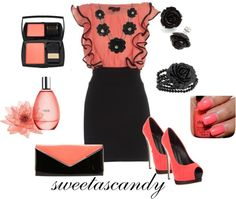 """Feelin' Peachie"" by sweetlikecandycane ❤ liked on Polyvore"