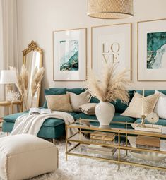 Blue And Gold Living Room, Blue Couch Living Room, Living Room Turquoise, Beige Living Rooms, Living Room Accents, Living Room Interior, Living Room Decor Teal, Art For Living Room, Earth Tone Living Room Decor