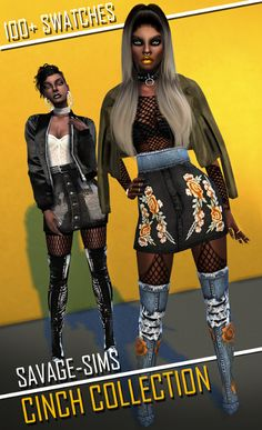 Sims 4 CC's - The Best: Cinch Skirt, Belt and Boots by SavageSims