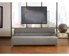 Simple, gray and masculine. Dover Sofa #CORT