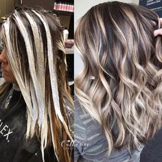 Blonde With Dark Roots, Dark Hair With Highlights, Brown Blonde Hair, Hair Color For Black Hair, Icy Blonde, Chunky Highlights, Blonde Hair For Fall, Short Brown Hair With Blonde Highlights, Blonde Highlights On Dark Hair All Over