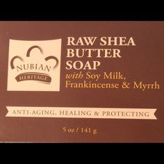 She's Butter Soap Raw Shea Butter Soap w/ Soy Milk and Frankincense and Myrrh Makeup Foundation