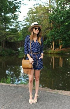 Your easiest summer outfit ideas require only one piece, like this adorable romper on Christina of Oh So Glam.