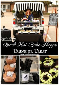 Black Hat Bake Shoppe Trunk or Treat   Trunk or Treat Ideas