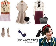 """blair waldorf inspired,"" by tre-chicc ❤ liked on Polyvore"