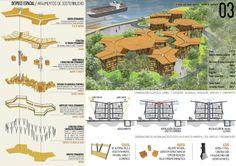 Galeria de Resultados do concurso estudantil de arquitetura bioclimática da IX Bienal José Miguel Aroztegui / Abrigos de Emergência - 20