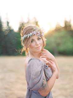 Blushing lavender bridal inspiration: http://www.stylemepretty.com/2015/10/07/ethereal-lavender-field-wedding-inspiration/ | Photography: Julie Paisley - http://juliepaisleyphotography.com/blog/